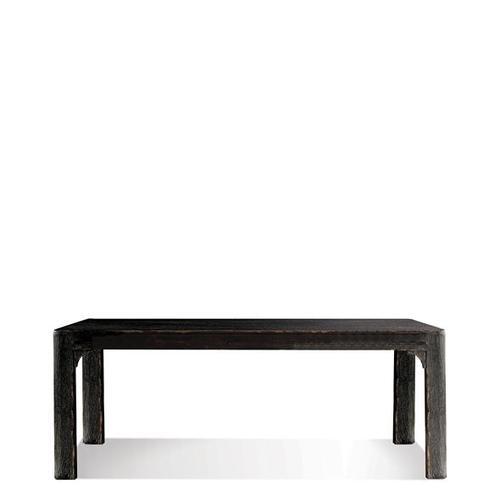 Bellagio 76-Inch Dining Table Weathered Worn Black finish