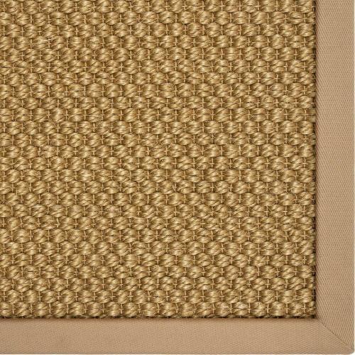 Karastan - Double Weave Jute Tigers Eye 10'x14' / Leather Border