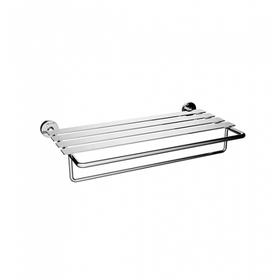TH400 - Double Towel Shelf - Brushed Nickel