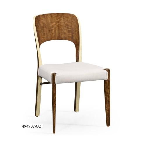 Hyedua and ivory finish side chair