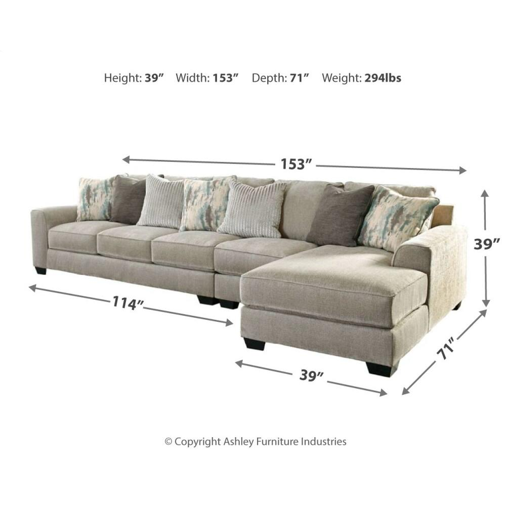 Ardsley 3-piece Sectional With Chaise