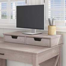 Key West Desktop Organizer with Drawers - Washed Gray
