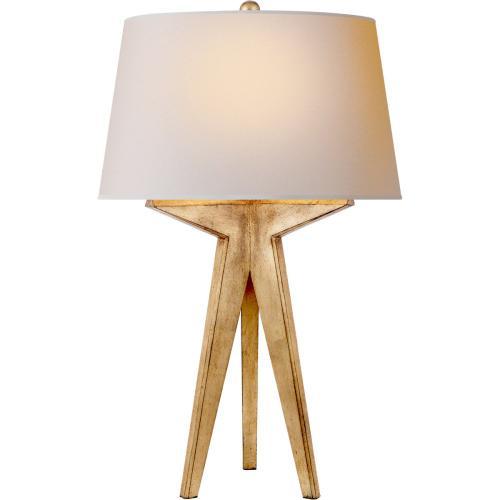 Visual Comfort CHA8994GI-NP E. F. Chapman Russell 29 inch 150 watt Gilded Iron Table Lamp Portable Light in Natural Paper, E.F. Chapman, Modern, Tripod, Natural Paper Shade