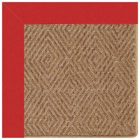 "Islamorada-Diamond Canvas Jockey Red - Rectangle - 24"" x 36"""