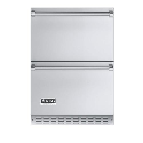 """Viking - Stainless Steel 24"""" Outdoor Refrigerated Drawer - VURD (Professional model)"""