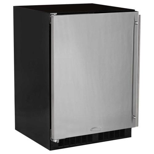 24-In Built-In All Refrigerator With Maxstore Bin with Door Style - Stainless Steel, Door Swing - Left