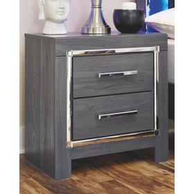 Lodanna Two Drawer Night Stand Gray
