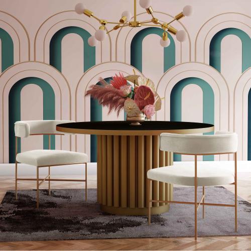 Tov Furniture - Kim Performance Velvet Chair in Cream