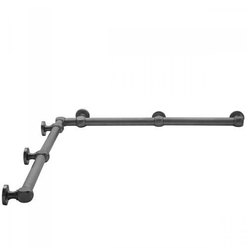"Satin Nickel - G71 60"" x 60"" Inside Corner Grab Bar"