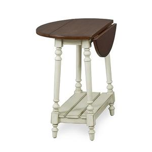 Null Furniture Inc - Drop Leaf End  Stone Base / Cherry tobacco Top      (6618-08SCT,52907)
