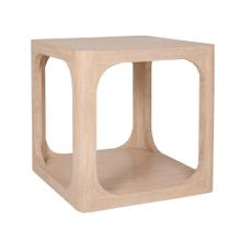 """Archie 22"""" Side Table, Beech Finish"""