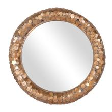 "Sawyer 32"" Round Mirror, Antique Brass"