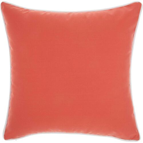 "Outdoor Pillows L9090 Coral 18"" X 18"" Throw Pillow"