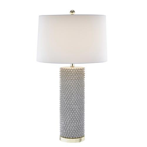 "Sagebrook Home - Sagebrook Home Resin 31"" Spiked Table Lamp, Gray 50050"