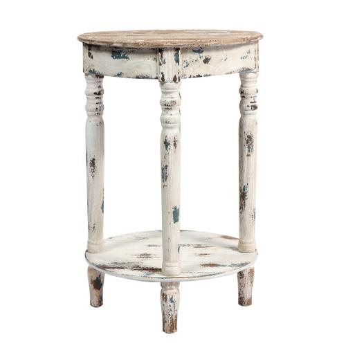 Saxon Accent Table, Weathered Wood Ac125