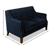 Tufted Loveseat, Blue Velvet
