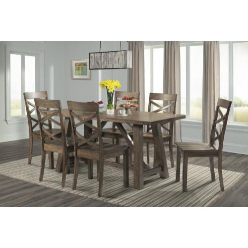Renegade Dining Set - Table, Bench, and 4 Side Chairs