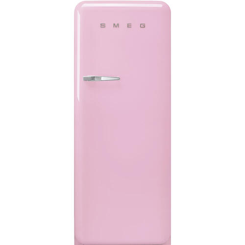 '50s Style fridge with ice compartment, Pink, Right-hand hinge, 24'' in-width