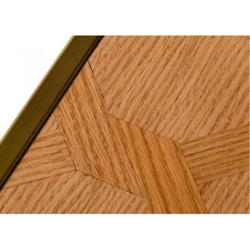 Modrest Jessica - Modern Oak & Brass Bookshelf