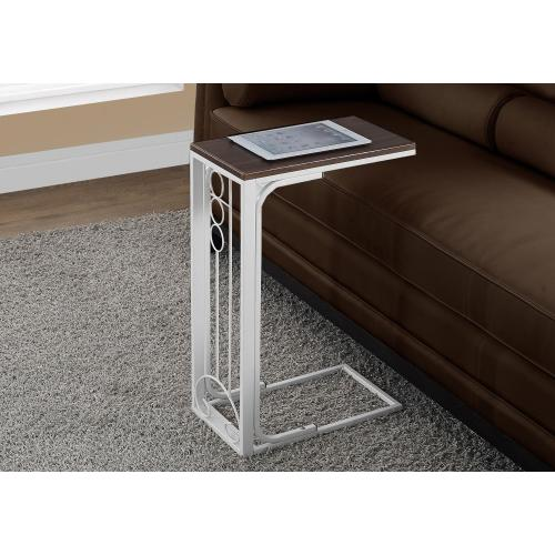 Gallery - ACCENT TABLE - CHERRY TOP / ANTIQUE WHITE METAL