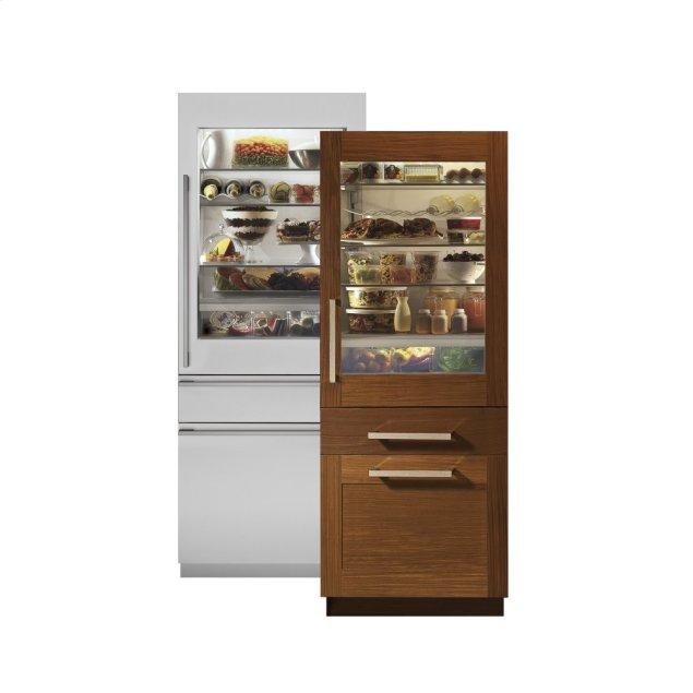 "Monogram Monogram 30"" Integrated Glass-Door Refrigerator for Single or Dual Installation"