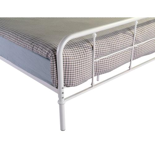 Emerald Home Fairfield Metal Bed Snowdrop White B202-08hbfbrwht