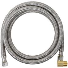 View Product - Braided Stainless Steel Dishwasher Connector with Elbow, 5ft