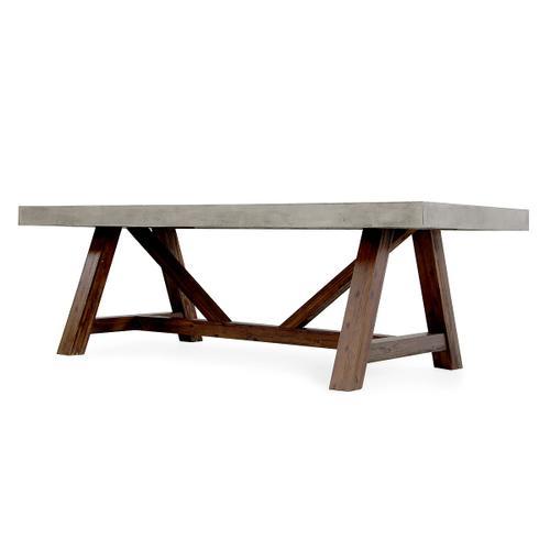 Modrest Revok Modern Concrete & Acacia Dining Table