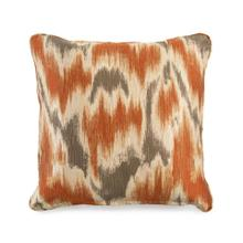 Toss Pillow with a Watermark Orange Pattern