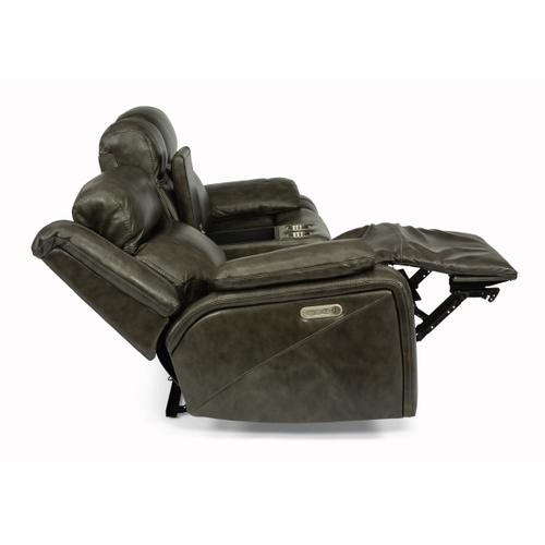 Gallery - Journey Power Reclining Loveseat with Console and Power Headrests