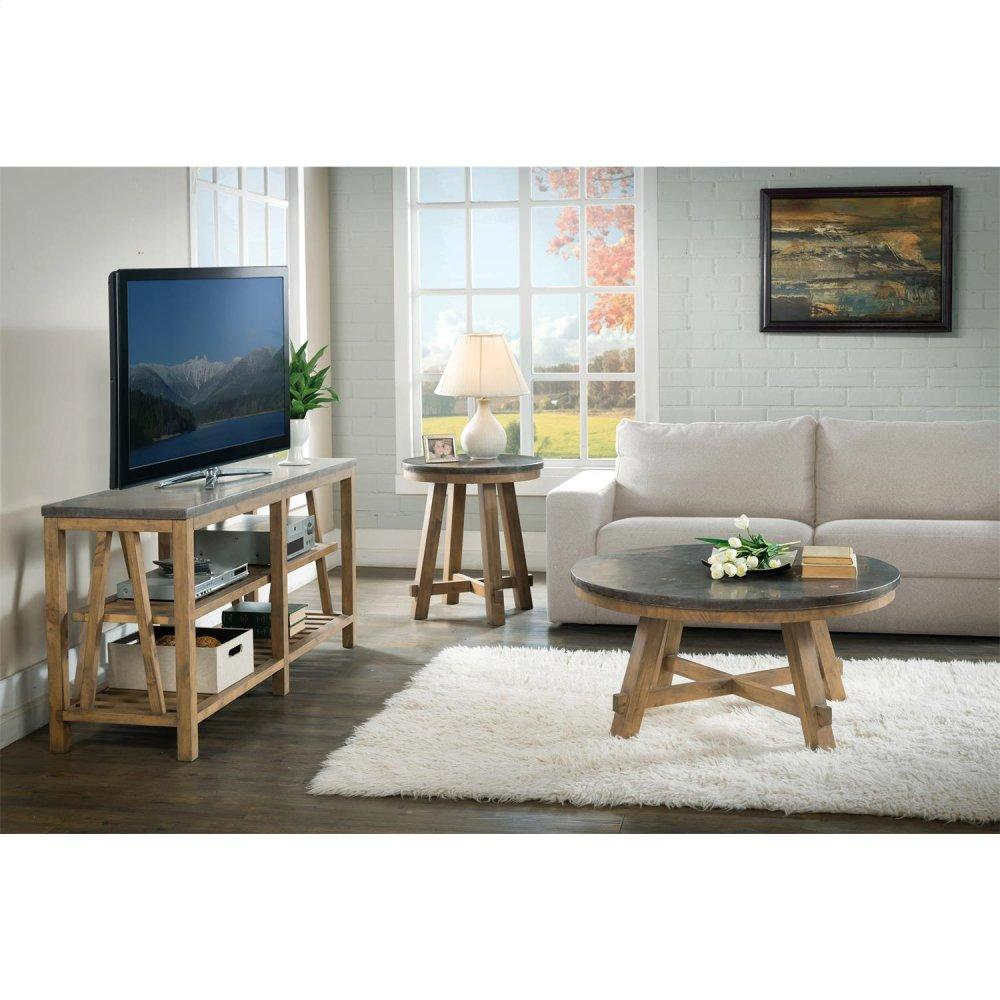 See Details - Weatherford - Round Side Table Top - Bluestone Finish