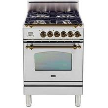 """24"""" Nostalgie Series Friestanding Single Oven Gas Range with 4 Sealed Burners in Stainless Steel"""