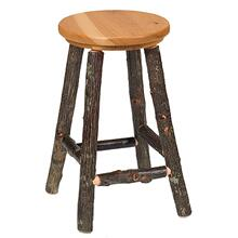 "Round Counter Stool - 24"" high - Cinnamon - Wood Seat"