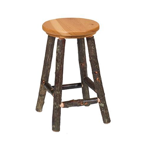 "Product Image - Round Counter Stool - 24"" high - Antique Oak - Antique Oak seat"