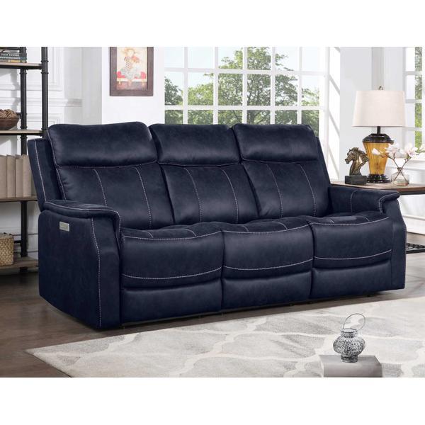 See Details - Valencia Dual-Power Reclining Sofa, Ocean Blue