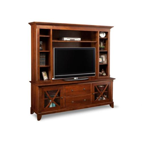 """Handstone - Florence 75"""" HDTV Cabinet with Hutch"""