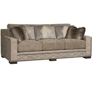 California Leather/Fabric Sofa