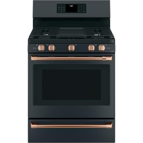 """Cafe - Café™ 30"""" Smart Free-Standing Gas Range with Convection"""