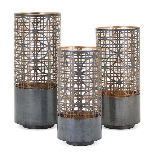 A & B Home - S/3 Modi Pierced Lanterns