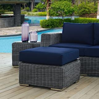 Summon Outdoor Patio Sunbrella® Ottoman in Canvas Navy