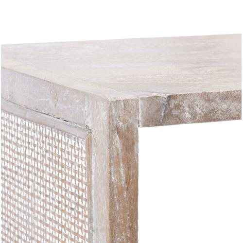 Phoenix 2 Shelf Etagere - Grey White Wash