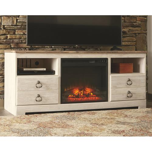 """Willowton 64"""" TV Stand With Electric Fireplace"""