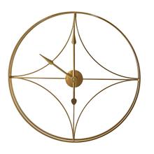 Gold Geo Open Work Wall Clock
