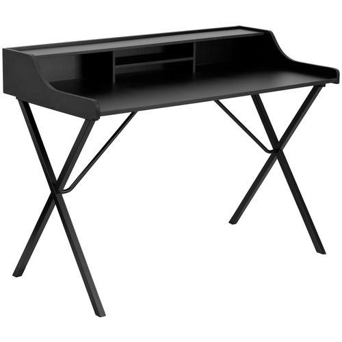 Flash Furniture - Black Computer Desk with Top Shelf