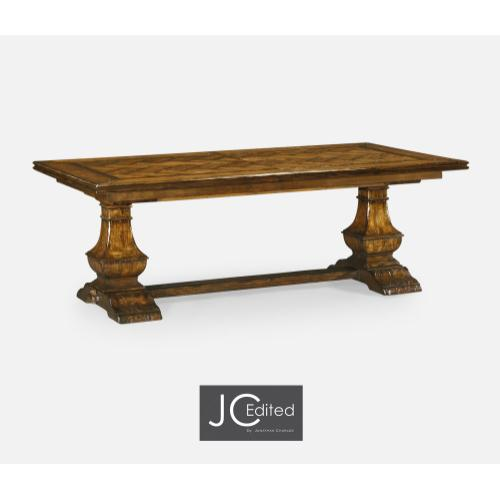 """86"""" Extending Dining Table in Country Walnut"""