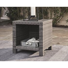 Salem Beach Square End Table Gray