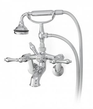 All Metal Tub Faucet with Lever Handles Tub or Wall Mount Product Image