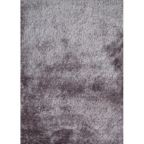 Shaggy Viscose Solid S.V.S. - Silver / 5' x 7'