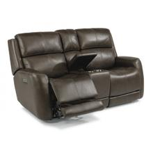 Zelda Power Reclining Loveseat with Console & Power Headrests