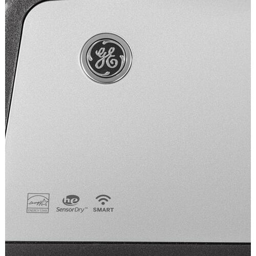 GE® 7.4 cu. ft. Capacity Smart aluminized alloy drum Gas Dryer with Sanitize Cycle and HE Sensor Dry